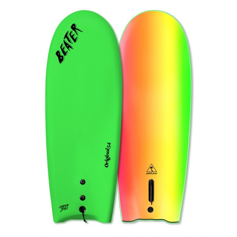 Prancha Catch Surf - Beater Original 54'' - Single Fin-NEON GREEN