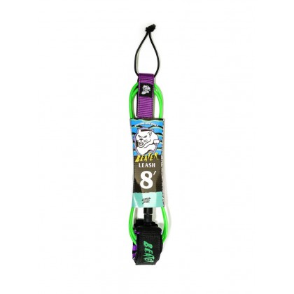 Beater 8Ft Leash - Green / Purple
