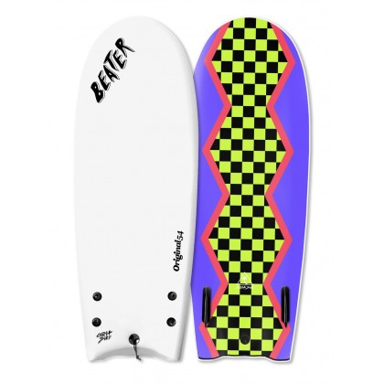 "Prancha Catch Surf - Beater Original 54"" - Twin Fin-WHITE."