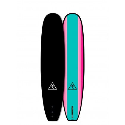 PRANCHA CATCH SURF - Heritage 8'6'' Noserider - Single Fin - Black Top/Turquoise Bottom