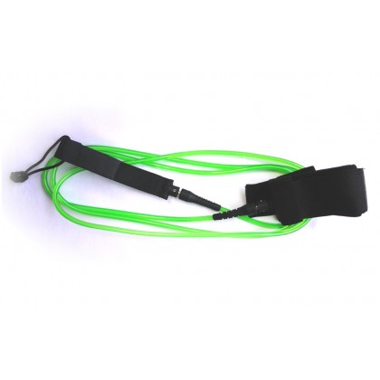 LEASH Long /SUP 9' x 7mm com duplo swivel COR VERDE/BRANCO