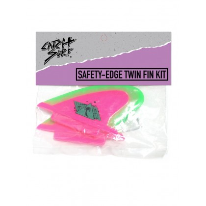 Safety-Edge Twin Fin Set - Hot Pink//Neon Lime