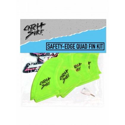 Hi-Perf Safety Edge Quad Fin -  Lime