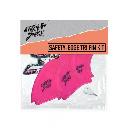 Hi-Perf Safety Edge Tri Fin Hot Pink