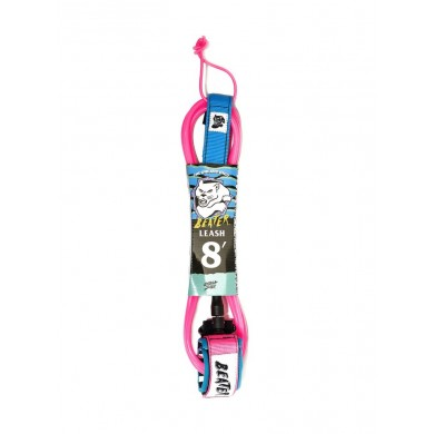 Beater 8Ft Leash - Pink/Blue