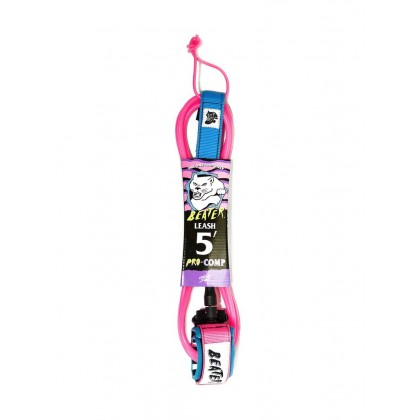 Beater Pro Comp 5Ft Leash - Rosa / Azul