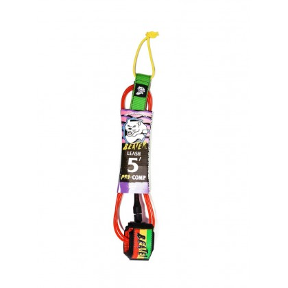 Beater Pro Comp 5Ft Leash - Rasta